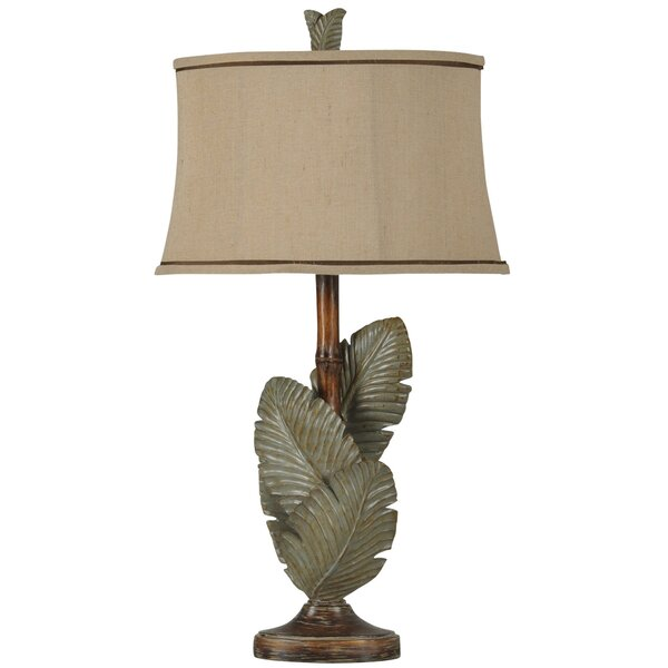 Frankfield Palm Leaves 33.5 Table Lamp by Bay Isle Home
