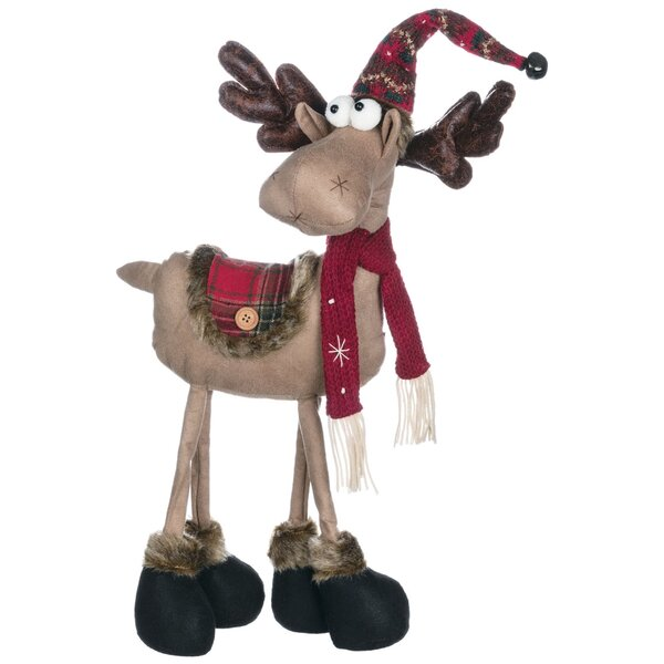 Reindeer Ranch Sding Moose in Hat Figurine by The Holiday Aisle