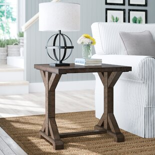 Compare prices Mcwhorter Trestle End Table ByLaurel Foundry Modern Farmhouse
