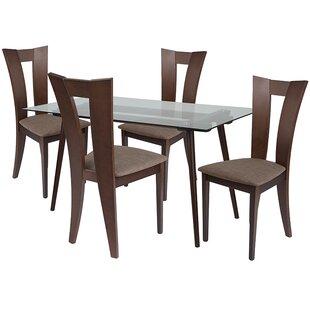 Lulu 5 Piece Dining Set by Ebern Designs