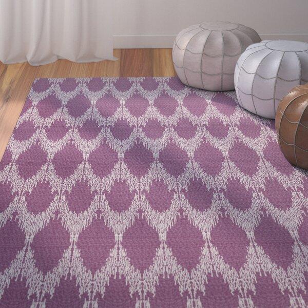 Lassiter Geometric Purple Area Rug by Bungalow Rose