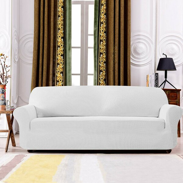 Plaid Stretch Box Cushion Sofa Slipcover by Winston Porter