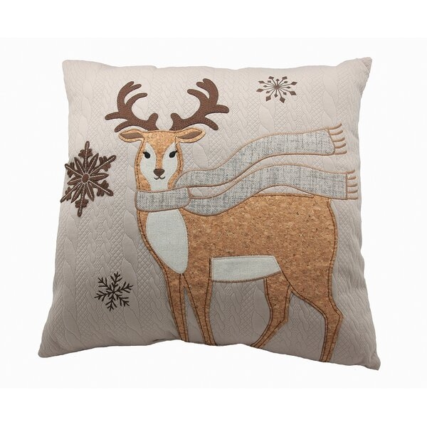 Cozy Reindeer Throw Pillow by Manor Luxe