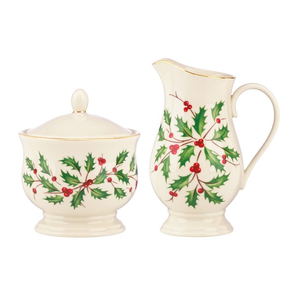 Holiday Sugar and Creamer Set by Lenox