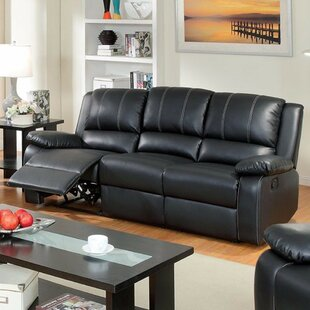 Gardea Leatherette Reclining Sofa Red Barrel Studio