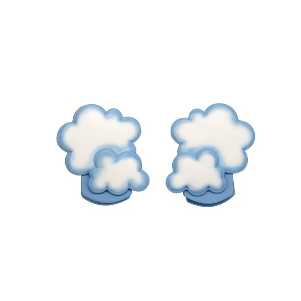 Cloud Wall Decor Canvas Art (Set of 2) by NoJo