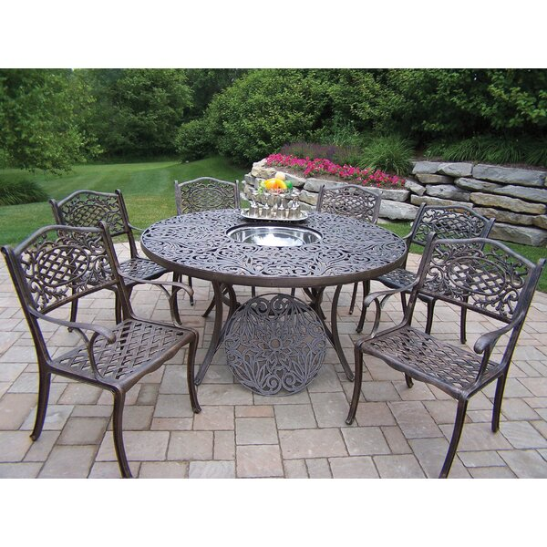 Mississippi 7 Piece Dining Set with Cooler Insert by Oakland Living