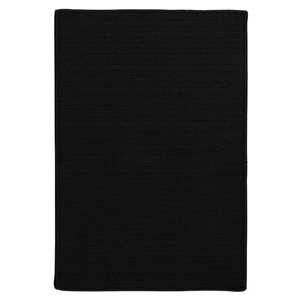 Glasgow Braided Black Indoor/Outdoor Area Rug By Charlton Home