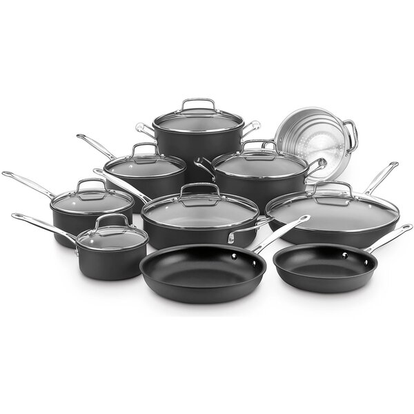 17 Piece Chefs Classic Hard Anodized Non-Stick Cookware Set by Cuisinart