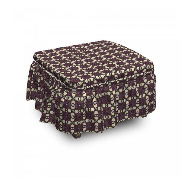 Geometric Bohemian Ottoman Slipcover (Set Of 2) By East Urban Home