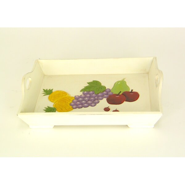 Creedmoor Fruit Rectangular Serving Tray by Winston Porter