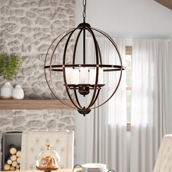 Liang 5-Light Shaded Globe Chandelier By Gracie Oaks