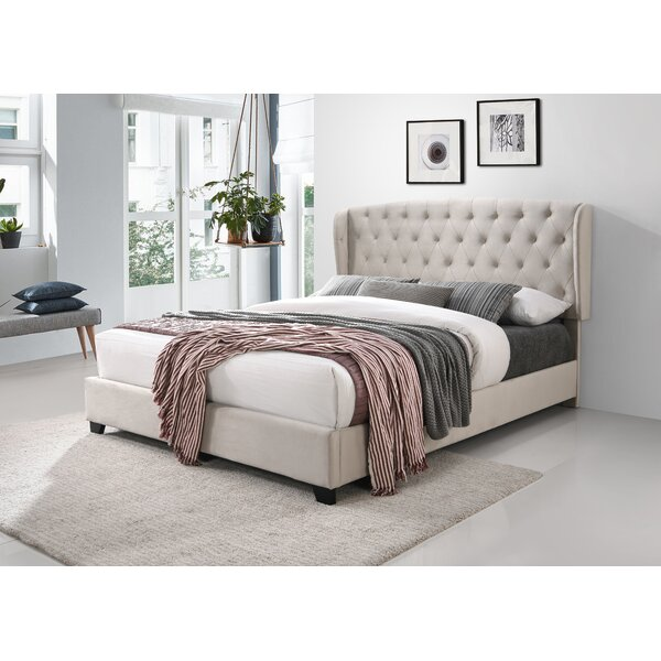 Cottman Upholstered Standard Tufted Bed by House of Hampton