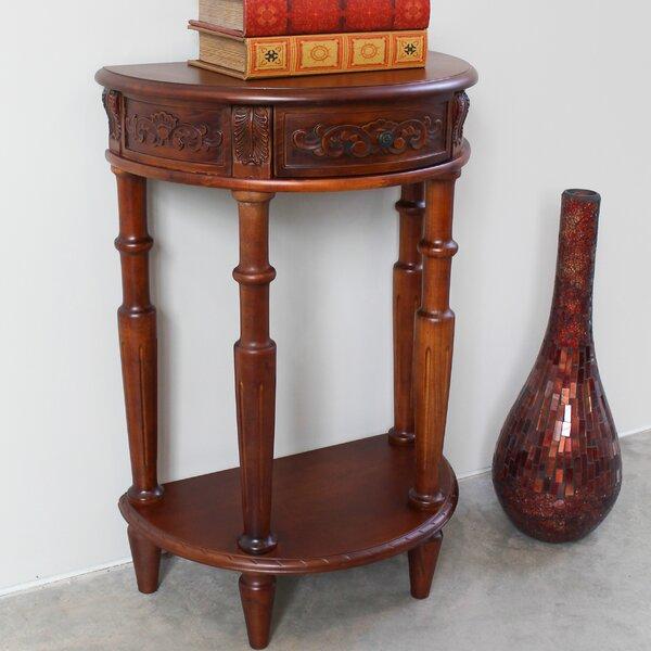 Carved Wood Furniture End Table By International Caravan