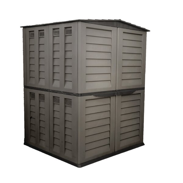 5 ft. W x 4 ft. 11 in. D Plastic Vertical Tool Shed by Starplast