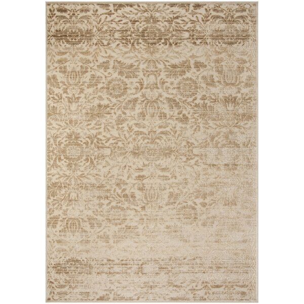 Heritage Bloom Beige/Brown Area Rug by Martha Stewart Rugs