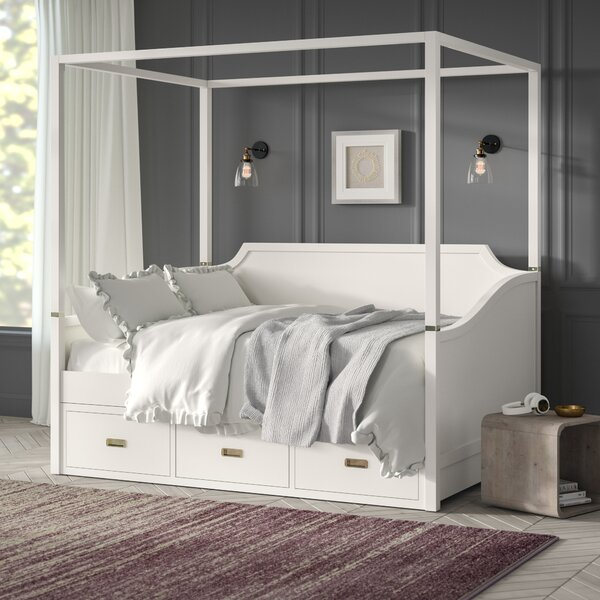 Tazewell Canopy Daybed with Storage by Greyleigh