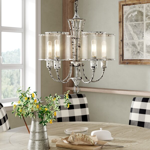 Cyrus 5 - Light Shaded Classic / Traditional Chandelier By Laurel Foundry Modern Farmhouse