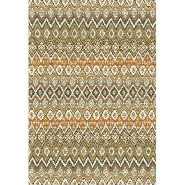 Berwick Green/Blue/Brown Area Rug by World Menagerie