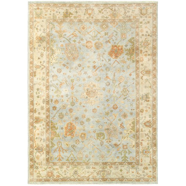 Palace Hand-Knotted Blue/Beige Area Rug by Tommy Bahama Home
