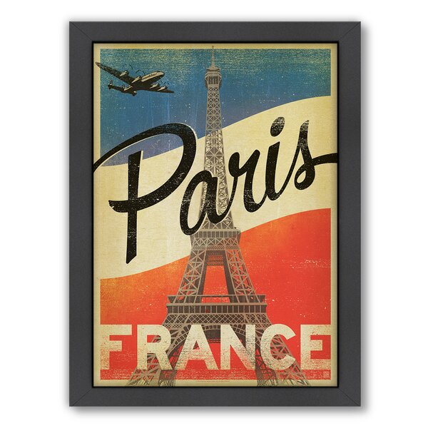 Paris Flag Framed Vintage Advertisement by East Urban Home
