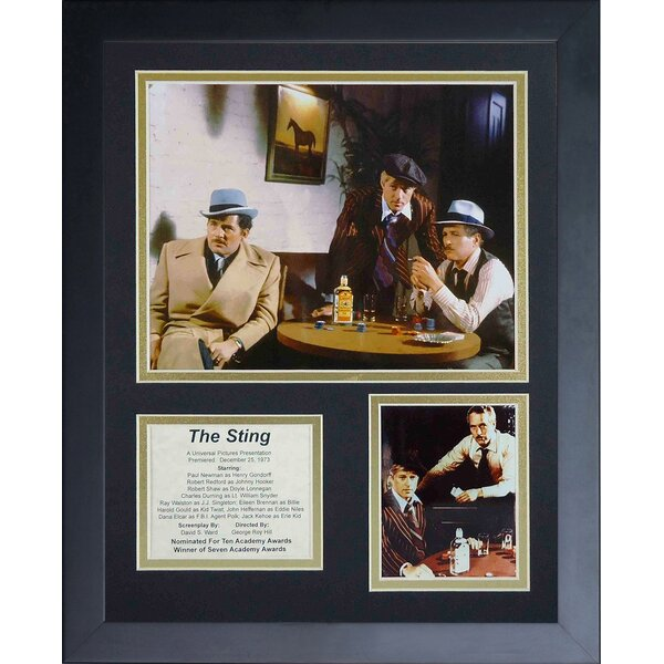 The Sting Collage Framed Memorabilia by Legends Never Die