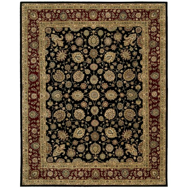 Ellerswick Hand Woven Wool Red/Black Indoor Area Rug by Darby Home Co
