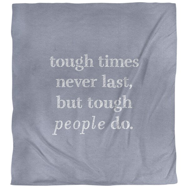 Tough Times Quote Single Duvet Cover
