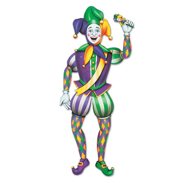 Mardi Gras Jester Standup by The Beistle Company