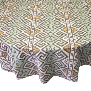 Danae Aztec Print Heavyweight Round Vinyl Tablecloth