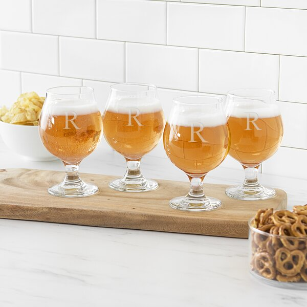 Personalized Belgian Beer Glass (Set of 4) by Cathys Concepts