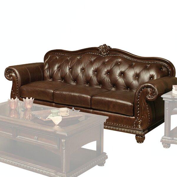 Wentz Leather Sofa by Astoria Grand