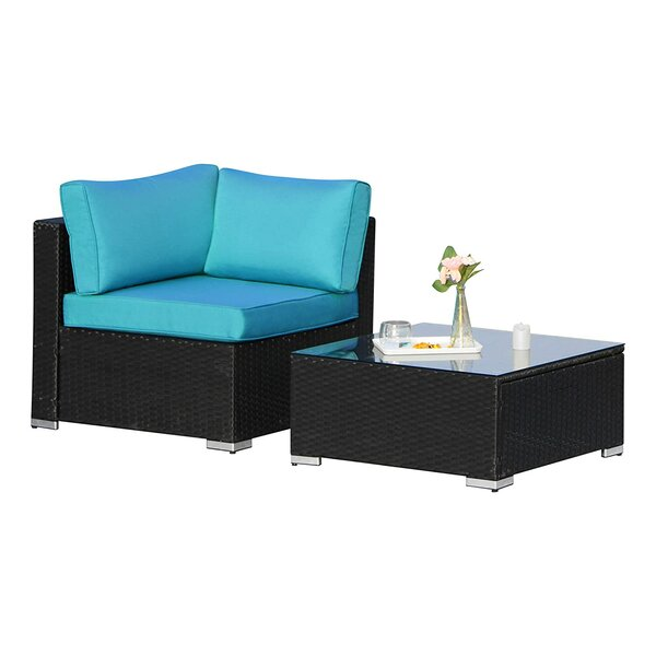 Amator 2 Piece Rattan Seating Group by Ebern Designs