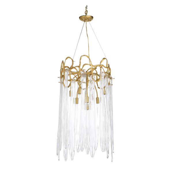 Sutton 9 - Light Unique / Statement Tiered Chandelier by Chelsea House Chelsea House