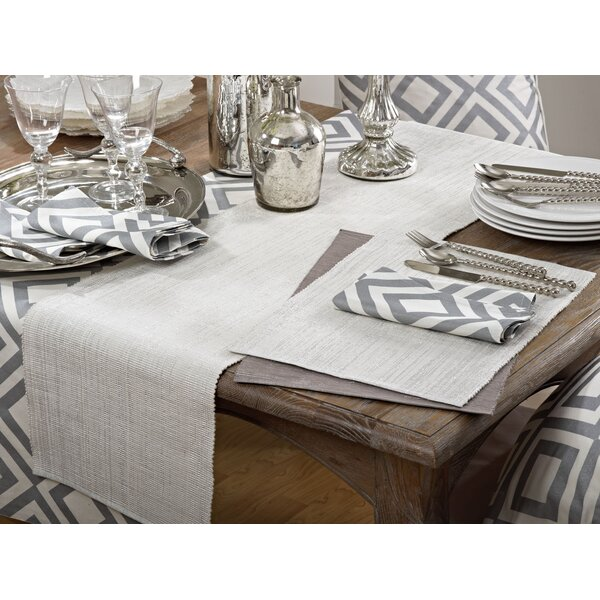 Astrid Shimmering Design Ribbed Placemat (Set of 4) by Saro