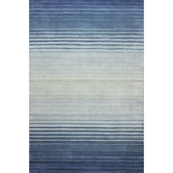 Napoleon Handmade Wool Blue Area Rug by Orren Ellis