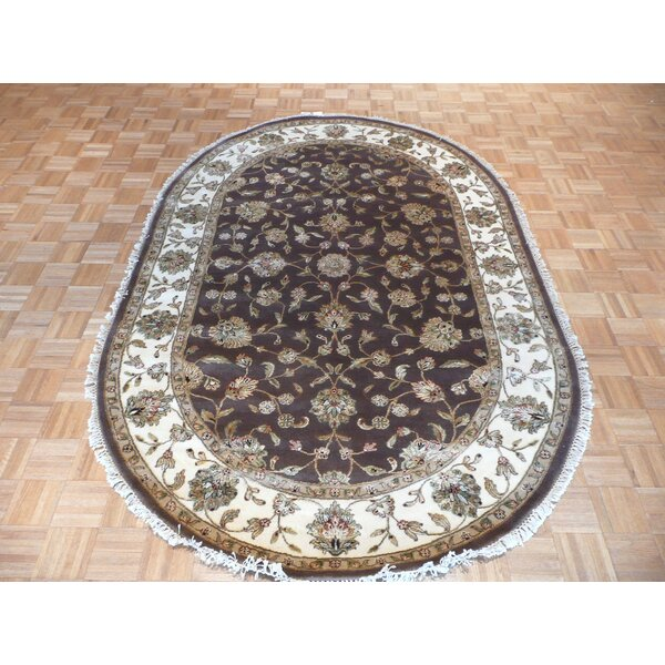 One-of-a-Kind Rhyne Hand-Knotted Brown Area Rug by Astoria Grand