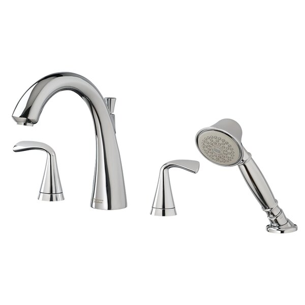 Fluent Double Handle Deck Mounted Roman Tub Faucet Trim with Diverter and Handshower by American Standard American Standard