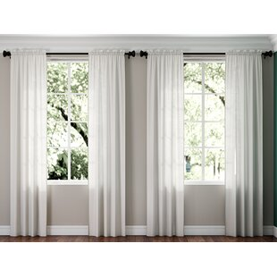 White Cotton Voile Curtains