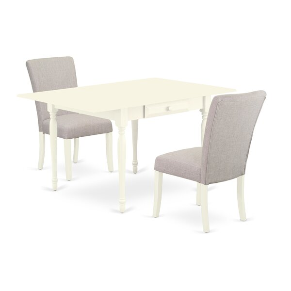 Becket Drop Leaf Solid Wood Dining Set by Ophelia & Co. Ophelia & Co.
