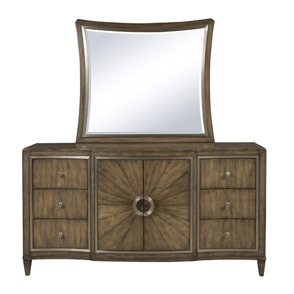 Sather 6 Drawer Combo Dresser with Mirror by House of Hampton