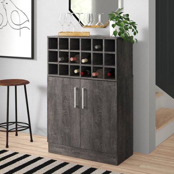 Buena Vista Mid Century Wine and Bar Cabinet by Zipcode Design Zipcode Design