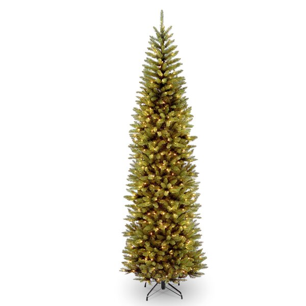 Pencil 9 Green Fir Artificial Christmas Tree With 500 Clear Lights With Stand By Willa Arlo Interiors.