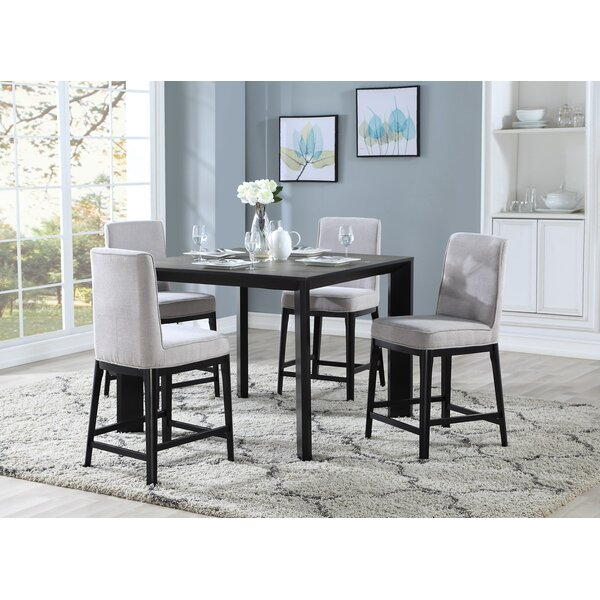 Thrash 5 Piece Counter Height Dining Set by Brayden Studio