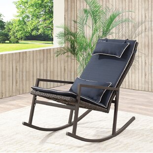 outdoors rocking chairs. Tremberth Outdoor Rattan Wicker Rocking Chair With Cushion Outdoors Chairs N