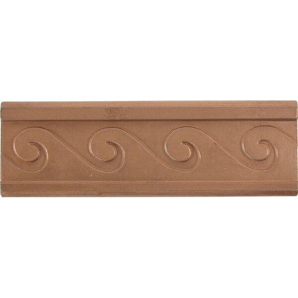 2 x 6 Metal Attractive Decorative Accent Tile in Red Copper (Set of 4) by The Copper Factory