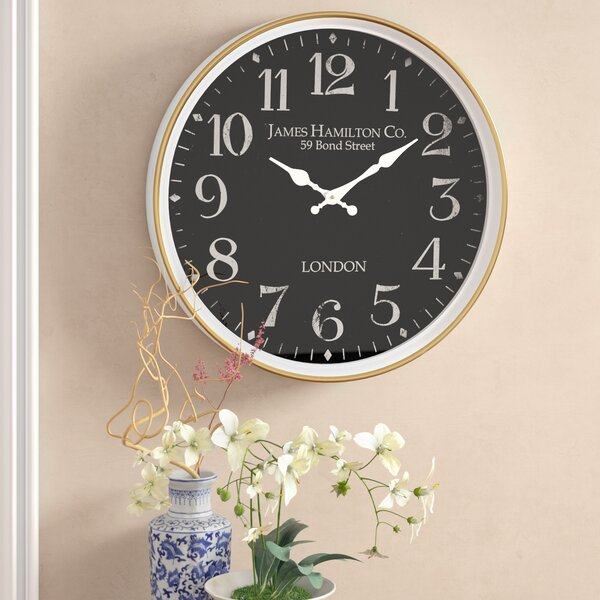Burg Contemporary London-Inspired Vintage  Wall Clock by Alcott Hill| @ $37.99