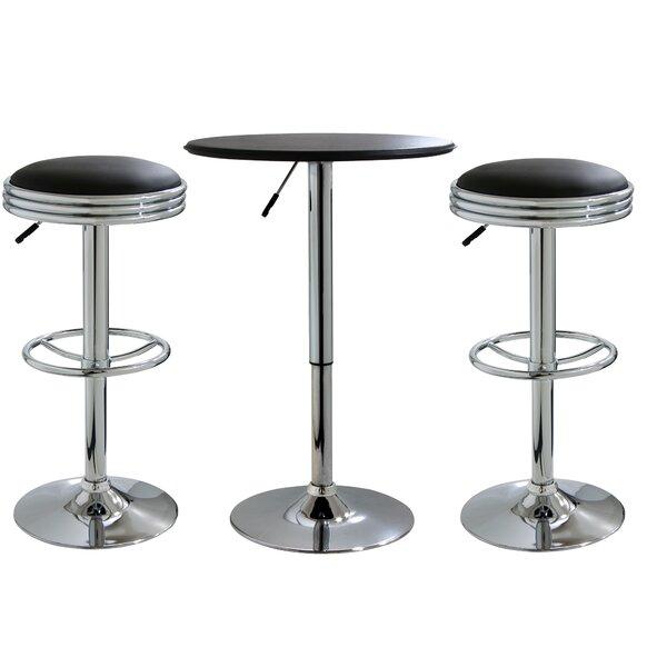 Southampton 3 Piece Adjustable Height Dining Table Set by Latitude Run Latitude Run