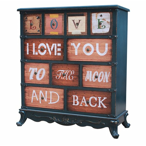 Cushman Love U To The Moon And Back Vintage 11 Drawer Accent Chest by August Grove