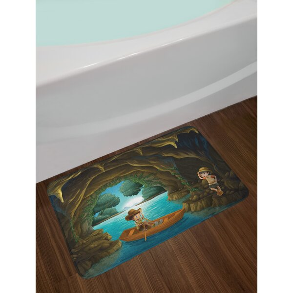 Girl and Explore Bath Rug by East Urban Home